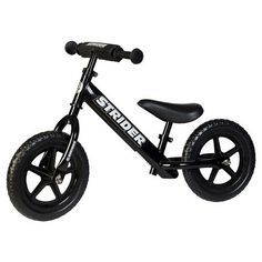 Strider 12 Sport Balance Bike: Black