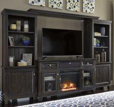 8f2731fa5f17 Townser 4pc Entertainment Set. Furniture DollyEntertainment FurnitureBlack  ...