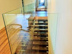 At Toughn Glass, we offer frameless glass balustrade in Melbourne for many purposes and they can be customized as per the clients need as well. What are you waiting for? Contact us today! Glass Fence, Glass Railing, Glass Door, Indoor Railing, Frameless Glass Balustrade, Stainless Steel Fittings, Melbourne House, Contemporary Architecture, Glass Panels