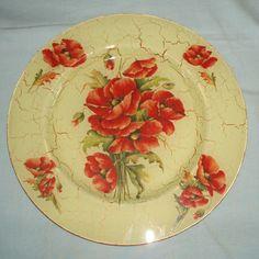 Glass plate/ricepaper decoupage/crackle