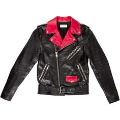Pre-owned Saint Laurent D?grad? Sunset Moto Jacket ($3,995) ❤ liked on Polyvore featuring men's fashion, men's clothing, men's outerwear, men's jackets, black, mens leather jackets, mens leather biker jacket, mens distressed leather jacket, mens biker jacket and mens studded jacket