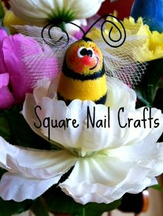 Bumblebee hand painted by Square Nail Crafts on a C7 Christmas bulb using a Prim Chick design.