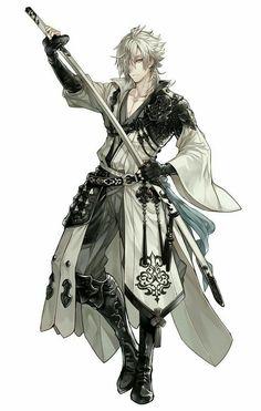 blade of justice ( male swordsman x off brand,anime and crossover harem) Fantasy Armor, Anime Fantasy, Dark Fantasy Art, Fantasy Character Design, Character Design Inspiration, Character Art, Character Portraits, Character Outfits, Dnd Characters