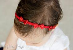 f8e69fdc8efad Red Headband - Flower Girl Headband - Three Small Red Satin Bows Handmade  Headband - Baby to Adult Headband