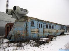 Abandoned Russian rocket train