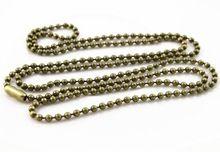 5 шт. 2 мм бронза покрытием бусины цепи ожерелье бусины разъем 65 см ( 25.5 дюймов ) ( Z1-08 )(China (Mainland))