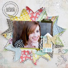 Layout: Look At You *Pink Paislee*  #page #layout# scrapbook