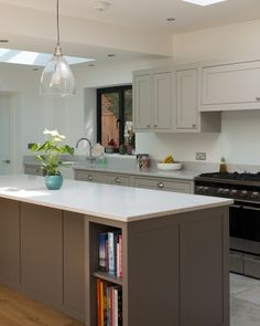 Open plan design with island