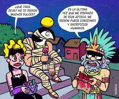 Aztec Art, Mundo Comic, Funny Art, Mythology, Geek Stuff, Kawaii, Cartoon, Humor, Aliens