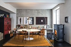 Sergio Leoni Wood Burner Stove, Wood Pellet Stoves, Wood Pellets, Underfloor Heating, Fireplace Design, Picture On Wood, Decoration, Living Spaces, Interior Design