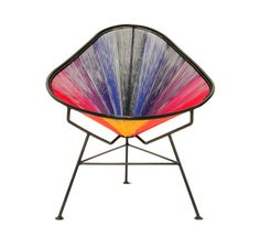 Multicolored #AcapulcoChair from #NODO designs.