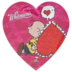 Whitman's Chocolates, Assorted, Charlie Brown, Valentine's Heart 1.6