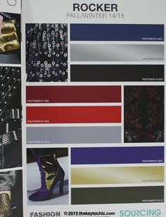 Rocker trend color palette for fall 2014 winter 2015 as seen on The Key To Chic #fashionforecasting #trendforecast