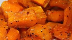 Roasted butternut squash with garlic is a quick and easy side dish ready in less than an hour for a weeknight or a holiday gathering.