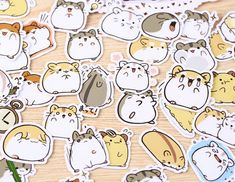 40 Pcs Cute Hamster Sticker, Hamster Sticker Flakes, Furry Animals Filofax Stickers, Scrapbooking, H