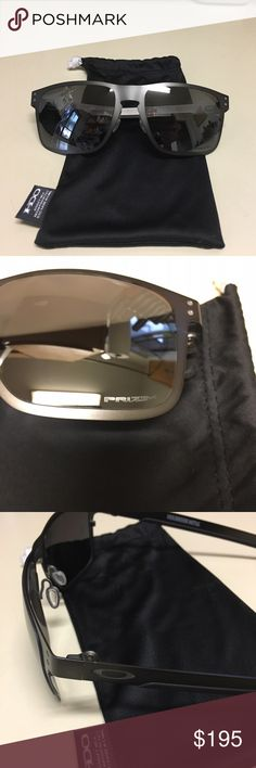 NEW PRIZM OAKLEY metal Holbrook sunglasses NEW, never worn OAKLEY sunglasses with soft sleeve and hard case. OAKLEY metal Holbrook polarized sunglasses for men (can be worn by women), newest version of Holbrook. Strong flexible metal, PRIZM lens retail for $223. Will ship next day!  Perfect for those up coming beach getaways!   Feel free to ask questions! Oakley Accessories Sunglasses
