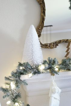 Christmas Mantel, ahousewithbooks.com