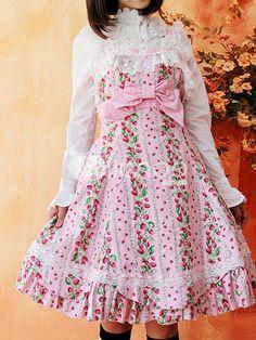Sweet Pink Lace Trim Ruffles Sleeveless Terylene Lolita DressShown Color :pink  Material :terylene + Flannel  Design :plain color  Season :spring + summer  $57.99