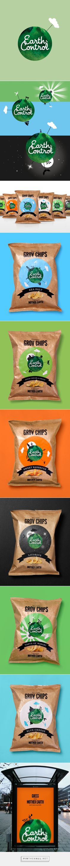 Earth Control Brand Identity & Packaging on Pantone Canvas Gallery curated by Packaging Diva PD. New Danish snack brand with a narrative brand and packaging design revolving around a visual storytelling.