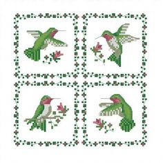all stitches hummingbirds cross stitch pattern pdf 594