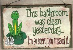Hot Bath 25 Cents Soap and Towel Extra Frog Bath Sign Plaque Bathroom Decor - - Product Description: These are hand made in South Carolina. It's a print of our original design on a hardboar Frog Bathroom, Bathroom Rules, Office Bathroom, Diy Bathroom Decor, Bath Decor, Bathroom Ideas, Master Bathroom, Bathrooms, Baby Bathroom
