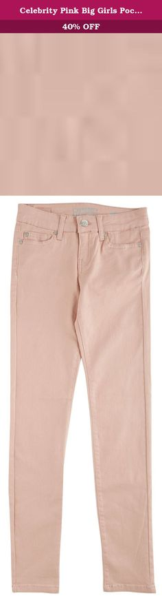 Celebrity Pink Big Girls Pocket Skinny Jeans 10 Misty rose pink. She'll look like a star in essential trends by Celebrity Pink! Skinnyjeans feature a solid design and casual five pocket styling. Cotton. Polyester. Rayon. Spandex.