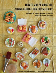 polymer clay food - Google Search