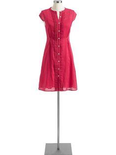 Old Navy | Women's Pintucked Linen-Blend Shirtdresses
