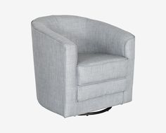 Dania   The Curves And Angles Of The Theva Swivel Chair Make For A  Fashionable Statement
