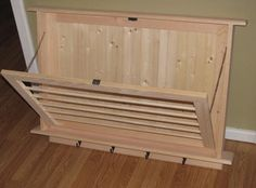 Unfinished Drying Rack Laundry Drying Rack by BearPondWoodworks