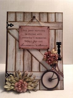 Karten - Cards What an honor. All of the semi-finalists are amazing paper crafter Handmade Birthday Cards, Happy Birthday Cards, Greeting Cards Handmade, Vintage Birthday Cards, Cute Cards, Diy Cards, Arte Pallet, Bicycle Cards, Flower Cards