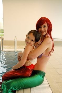 """My Little Girl by SeishinWakusei.deviantart.com on @deviantART - Ariel and Melody from """"The Little Mermaid 2"""", uploaded by the former. NOTE: This is a photo of a child in cosplay, so please re-pin responsibly - thanks!"""