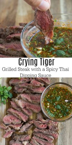 Best Chili Recipe I've Ever Made (Slow Cooker) Crying Tiger- Grilled Steak with a spicy Thai Dipping sauce. The Best Chili Recipe I've Ever Made (Slow Cooker) Crying Tiger- Grilled Steak with a spicy Thai Dipping sauce. Best Chili Recipe, Chili Recipes, Meat Recipes, Asian Recipes, Cooking Recipes, Thai Food Recipes, Cooking Tips, Hot Thai Chili Sauce Recipe, Seafood Recipes