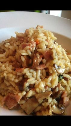 slimming world mushroom and bacon risotto