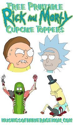 Free Printable Rick And Morty Cupcake Toppers Rick And Morty Cupcake Toppers Free Rick