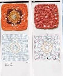 cuadrados de crochet -