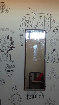 Discover recipes, home ideas, style inspiration and other ideas to try. Trippy Drawings, Graffiti Drawing, Wall Drawing, Graffiti Lettering, Bedroom Artwork, Room Ideas Bedroom, Bedroom Decor, Grunge Bedroom, Doodle Wall