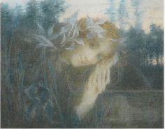 Lucien Lévy-Dhurmer - Femme Au Sphinx