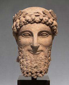 Portretbeeld uit Cyprus, 5de eeuw v.Chr., collectie RMO