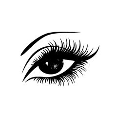 Eye with Lashes Vinyl Wall Art - Free Shipping On Orders Over $45 - Overstock.com - 16199413 - Mobile
