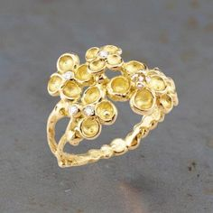 Bague 'Jardin mystérieux ' en or et diamants par Anaïs Rheiner pour l'Atelier des Bijoux Créateurs.