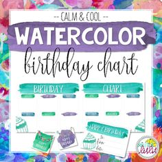 This birthday chart pack includes everything you need to acknowledge and celebrate birthdays in your classroom! Create a monthly or yearly birthday bulletin board, give your student's a birthday certificate to celebrate their special day, and use the birthday badges as tags for a birthday treat!