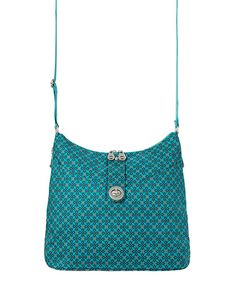 Look at this Aquamarine Floral Geo Helsinki Crossbody Bag on #zulily today!