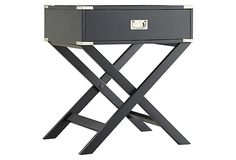 Anders Side Table, Dark Gray | Relaxed Industrial | One Kings Lane