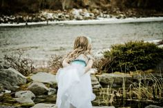Flower Girls love the Pond!!! Plus this shows how close the Confluence Patio is to the River... Photo By Mike Ridinger Photography