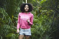 Think pink, amongst the greenery