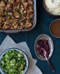Thanksgiving sides: Cranberry Apple Relish and Buttered Brussels Leaves