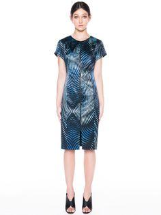 Kaleidoscope Satin Zip Front Dress - Veronika Maine