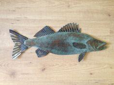Walleye metal fish Art wall sculpture Lake by SallenbachFishArt