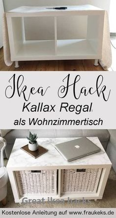 IKEA HACK - living room table from the Kallax shelf - - . IKEA HACK - living room table from Kallax shelf - - Kallax Ikea Hack, Etagere Kallax Ikea, Ikea Kallax Regal, Kallax Shelf, Ikea Storage, Storage Hacks, Art Storage, Small Living Room Table, New Swedish Design